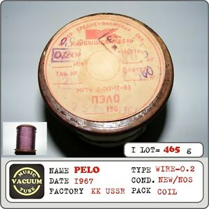 Pelo Coil Wire Polyester Thread Diameter 0 2mm Ussr 1967 1coil 465g