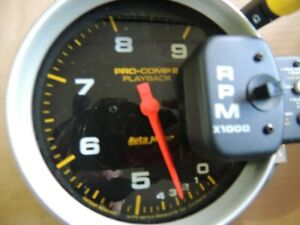 Autometer 6862 Pro comp 2 Playback Tach With 2 Step Shift light 9 000 Rpm