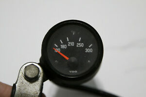 Vintage Vdo Motorcycle Oil Temp Gauge Handle Bar Mounted