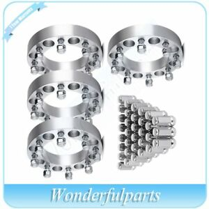 4x 1 5 Thick 8x6 5 14x1 5 Wheel Spacers 32pcs Lug Nuts For 88 00 Chevy K3500