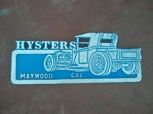 Car Club Plaque Edelbrock Cragar Hot Rod Decals Ac Delco 1932 1967 Chevy Sb