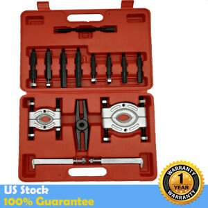 14pcs Bearing Separator Puller Set 2 And 3 Splitters Remover And Bearing Kits