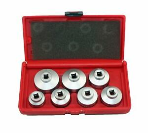 Heavy Duty 24mm To 38mm Oil Filter Cap Wrench Socket Removal Tools Set 7 Pieces