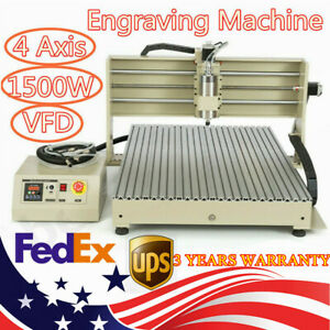 4 Axis 6090 Engraving Machine Engraver Carver Drilling Milling With Usb Port