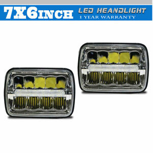 7x6 Sealed Led Headlight Road Fit Chevy Express Cargo Van 1500 2500 3500 Truck