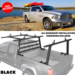 Aluminum Rack With Cantilever Extension Back Rack For Toyota Pickup Truck Black