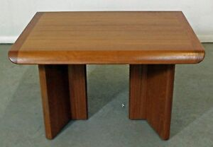 Mid Century Danish Modern Teak Sculpted Side End Table