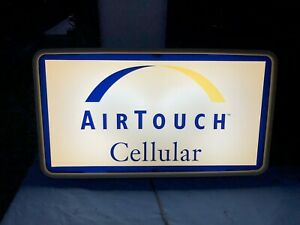 Vtg Cellular Light Up Sign Cell Phone Telephone Dealer Airtouch Cellular 1990s