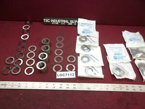 New 1 I d Milling Arbor Spacers Mfg By Precision Lot Of 127 Pc Loc7112