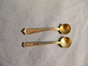 Lot Of 2 Tiffany Co Sterling Silver Salt Spoons