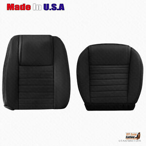 2005 2009 Ford Mustang Driver Bottom And Top Perforated Leather Seat Cover Blk