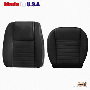 2005 2006 2007 2008 2009 Ford Mustang Driver Bottom Top Blk Leather Seat Cover