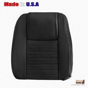 2005 06 2007 Ford Mustang Driver Top Perforated Leather Cover Dk Charcoal Black