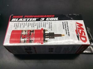 Msd 8223 Ignition Coil Blaster 3 Canister Round Oil Filled Red 45000 V Ea