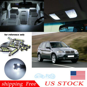 Us 22x Xenon White Led Interior Light Package Kit For Bmw X5 Series E70 2007 13