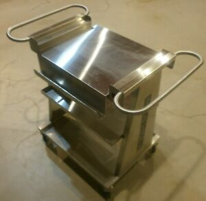 Welch Allyn Scale tronix 4802 4800 Stainless 3 Shelf Scale Cart 5 Casters