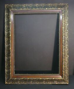 Awesome Large Antique European 3 Layer Wide Border Walnut Insert Frame 29 X 21