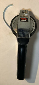 Rotex 880 Vintage Black And Chrome Heavy Duty Label Maker 1 2 Or 3 8 Embosser