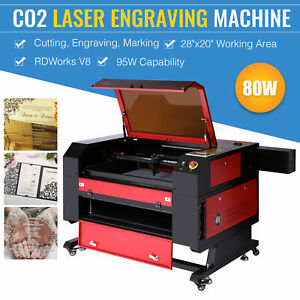 80w Co2 Laser Engraver Cutter Engraving Cutting Machine 20x28 Ruida Dsp 500x700