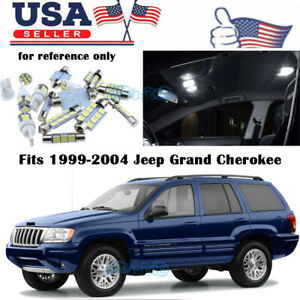 18x White Interior Led Lights Package Kit Fits 1999 2004 Jeep Grand Cherokee Us