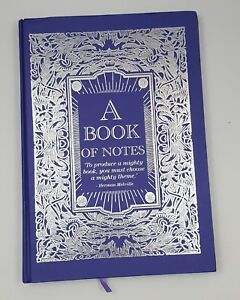 A Book Of Notes Large 12 2 X 8 7 Hardbound Writing Journal Purple rare new