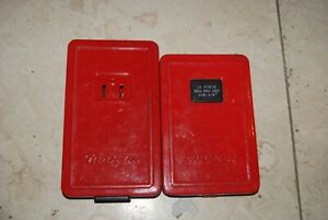 Snap On Metric And Standard Hex Key Allen Sets Red Metal Cases
