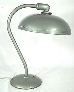 Mid Century Modern Industrial Curved Arm Retro Atomic Flying Saucer Lamp