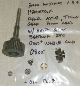 Emco Maximat 8 4 Lathe Headstock Rear Axle Components Timing Gear 0805
