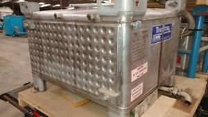 250 Gallon Transtore Ibc Jacketed 304 Stainless Steel Stackable Tote Tank