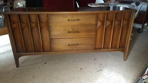 Mid Century Modern Buffet Cabinet Kent Coffey Perspecta Console Sideboard Table