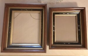 2 Gorgeous 19th C Eastlake American Aesthetic Picture Frames 3 Wide Moldings
