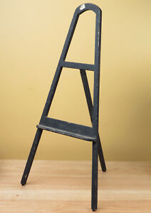 Vintage Easel Wood Miniature Small 24in Tall Hand Made Old Hardware R