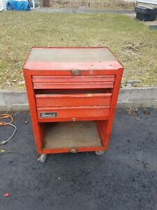 Vintage Snap On Tools Roll Cab Box Cabinet Toolbox Tool Chest As Is