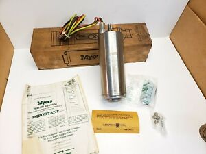 New Myers 4 Submersible Water Well Pump Motor 3 Wire 230v 1 3 Hp Free Shipping