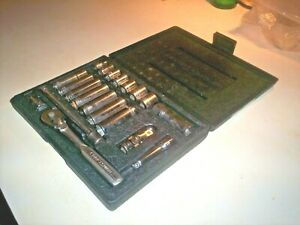Vintage Craftsman Tools 21 Piece Socket Wrench Set Sae Made In Usa 33227