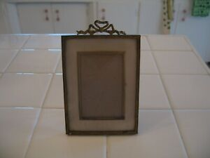 Cute Antique Ornate Gold Picture Photo Frame With Barbola Bow