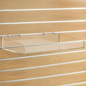Acrylic Tray For Slatwall With 18 W X 10 D X 4 H Inch