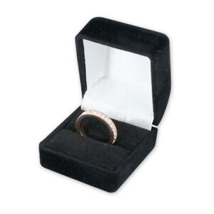 Ring Box In Black Velvet Finish 1 3 4 W X 1 7 8 D X 1 1 2 H Inch Count Of 10