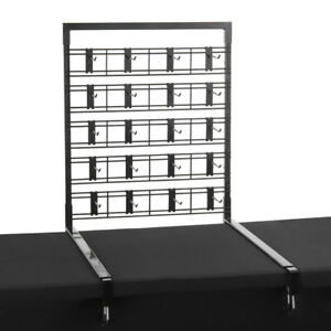 Display Mor Table Top Panel Mount For Slat Grid Pieces In Steel Lot Of 10