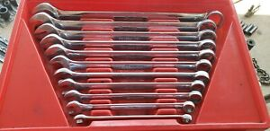 Snap On Sae 6 Point Combination Wrench Set 3 8 1 11pc Osh12a Osh32a
