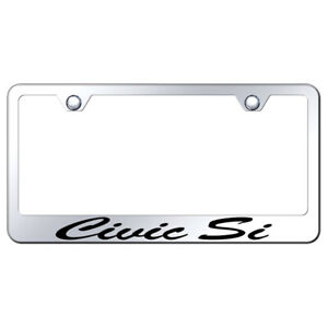 Honda Civic Si Script On Mirrored License Plate Frame Officially Licensed