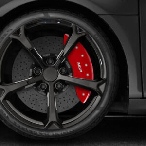 Set Of 4 Red Mgp Caliper Covers For 2010 2014 Mercedes E350 Convertible coupe