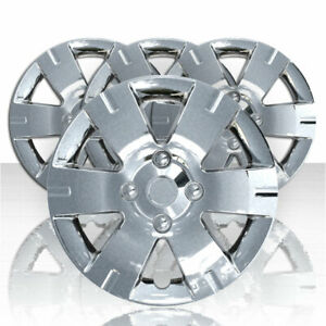 Set Of Four 15 Chrome 6sp Hubcap Wheel Covers For 07 12 Nissan Sentra push on