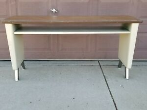 Vintage Sofa Table Mid Century Modern Tanker Desk Steampunk Atomic Industrial