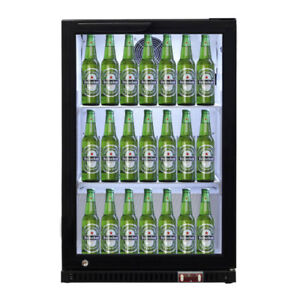 Single Door Bar Beverage Cooler Drink Storage Lock Control Center Refrigerator