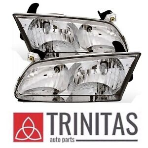For Set 00 01 Toyota Camry Headlights Headlamps Left Right Pair