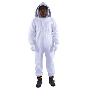 2sets Professional Cotton Full Body Beekeeping Bee Keeping Suit W Veil Hood Max