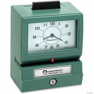 01 1070 411 Acroprint Manual Print Time Recorders Card Punch stamp