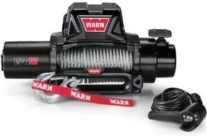 Warn 96820 Vr12 12000lb Winch 12v Hawse Fairlead 80 3 8 Wire Rope Cable New