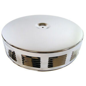 Chrome Air Cleaner Corvette Gto Style Louvered Sides 14 Hotrod Rat Rod Hot Gm A
